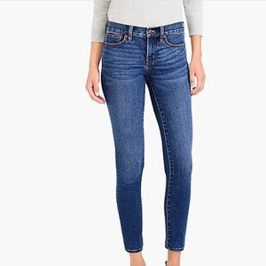 J. Crew Mid Rise Stretch Skinny Jeans